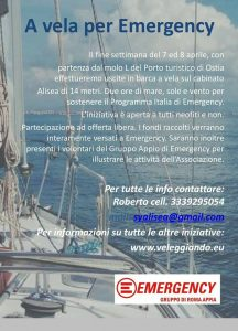 A vela per Emergency - 2 ore in barca a vela a Ostia @ Ostia