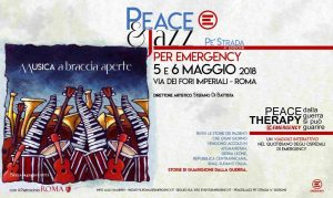 Peace & Jazz Pe' Strada per Emergency @ via dei fori imperiali, Roma