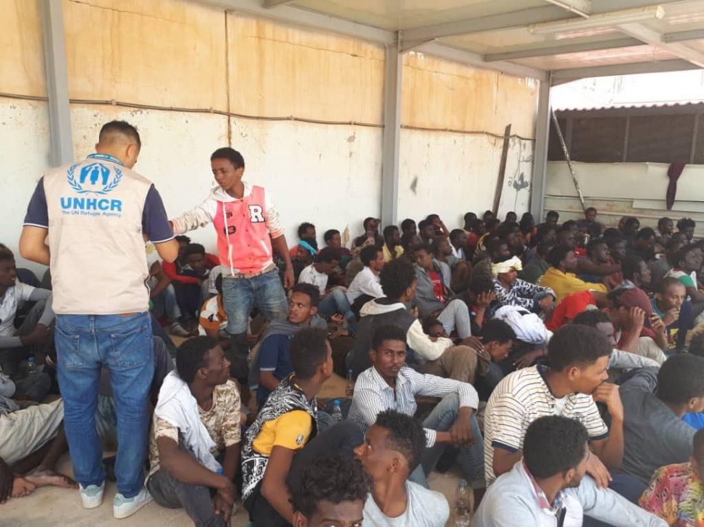 UNHCR al porto durante il respingimento segreto del 2 luglio 2018